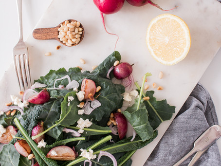 Kale & Roasted Radish Salad