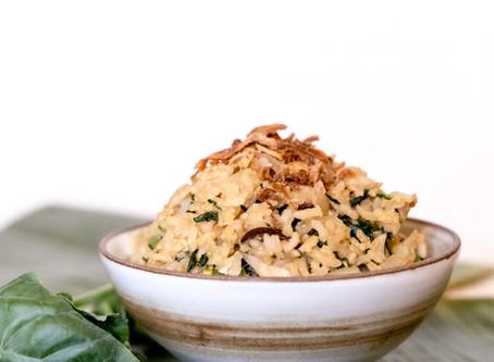 Kai Lan and Shiitake Mushroom Fried Rice