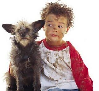 Eu, o menino e o cachorro