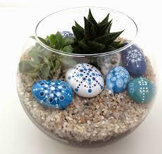 Pedras no vaso.