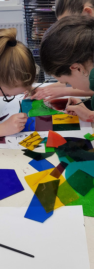 glass painting class