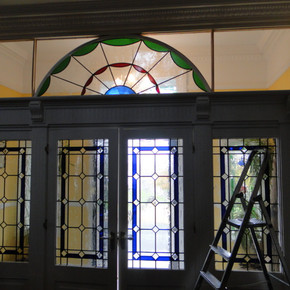 glass being installed