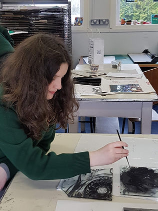 student glass painting