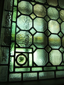 leaded glass after repair