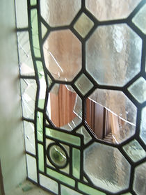 leaded glass before repair
