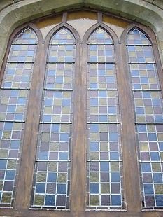 leaded glass after repairs