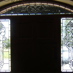bevelled doorway