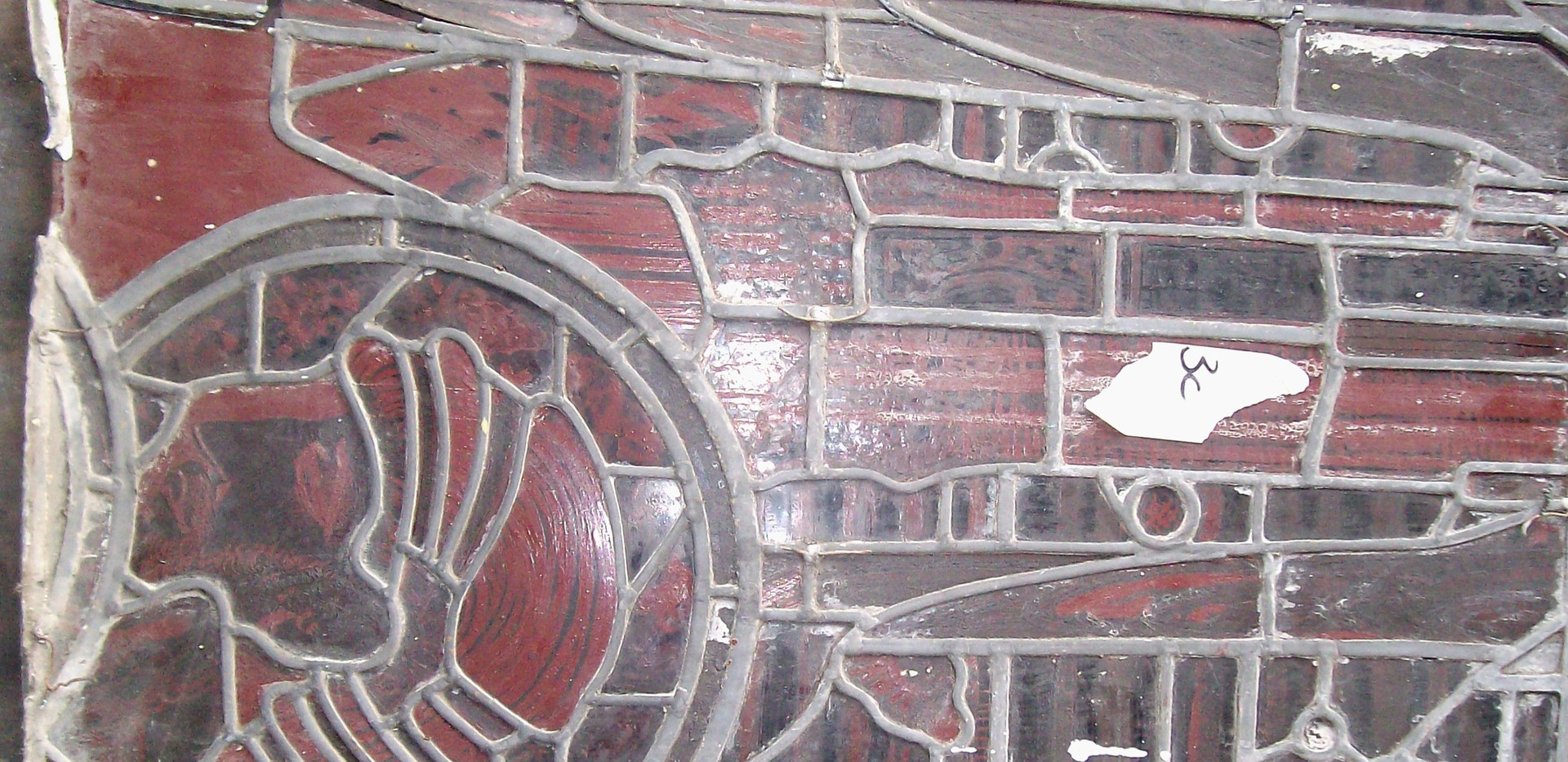 Harry Clarke Studio window, St Patrick's, Glenamaddy