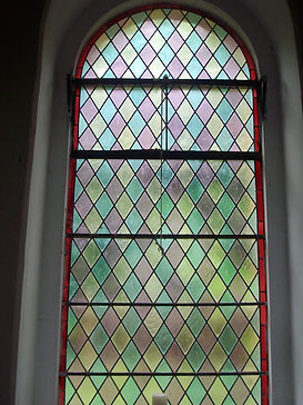 leaded glass after in-situ repair