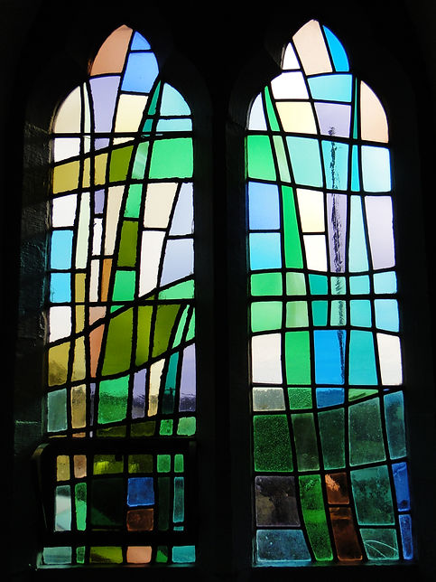 in-situ cleaning of stained glass