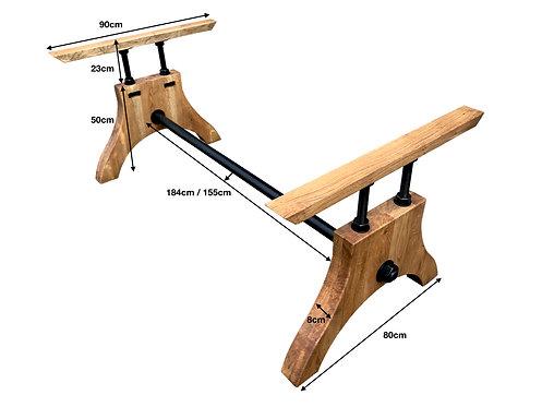 Vollmassives Eiche Tischgestell Handarbeit