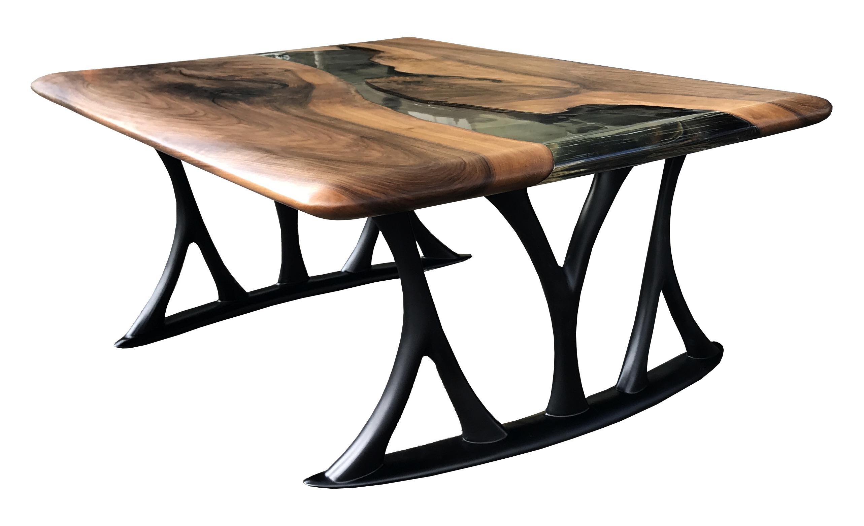 Massivholzcouchtisch Baumscheibe Epoxidharz Couchtisch Holz Tisch