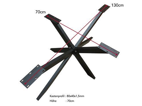 Tischgestell Spider 130x70x70cm