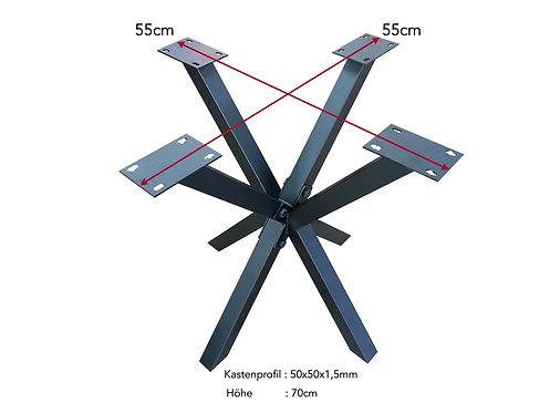 Tischgestell Spider 55x55x70cm