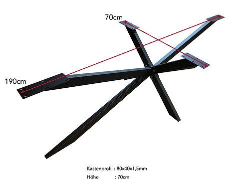 Tischgestell Spider 190x70x70cm
