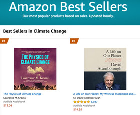 The Physics of Climate Change audiobook debuts at #1 on Amazon's climate change category