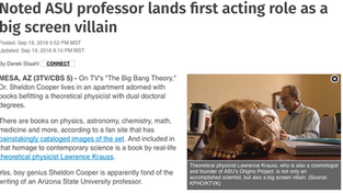 Noted ASU professor lands first acting role as a big screen villain