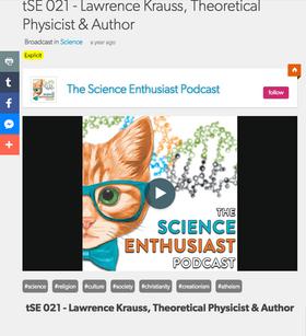 BlogTalkRadio: Lawrence Krauss, Theoretical Physicist & Author