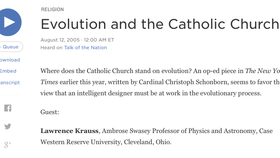 Science Friday with Ira Flatow: Evolution and the Catholic Church