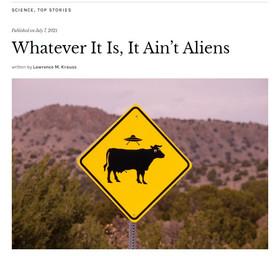 Whatever It Is, It Ain't Aliens: Quillette