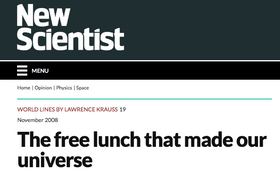The Free Lunch That Made Our Universe