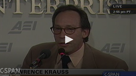 Lawrence Krauss on CSPAN: Scientific Literacy and Public Policy