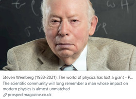 Steven Weinberg (1933-2021): The world of physics has lost a giant