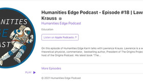 Lawrence Krauss on the Humanities Edge podcast #18