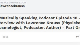 Musically Speaking podcast: Interview with Lawrence Krauss