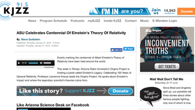 ASU Celebrates Centennial Of Einstein's Theory Of Relativity