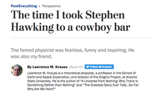 The time I took Stephen Hawking to a cowboy bar