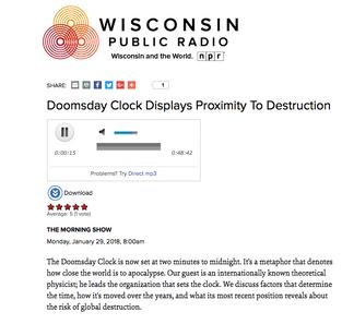 Doomsday Clock Displays Proximity To Destruction