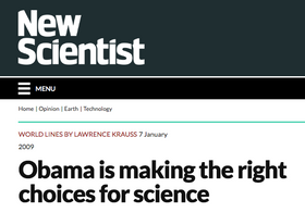 Obama is making the right choices for science