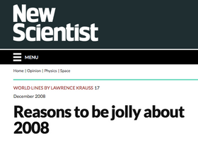 Reasons to be jolly about 2008