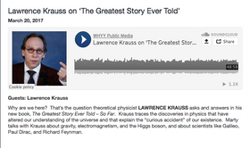 Lawrence Krauss on 'The Greatest Story Ever Told'