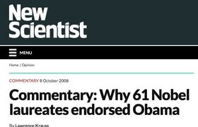 Why 61 Nobel Laureates endorsed Obama