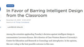 All Things Considered: In Favor of Barring Intelligent Design from the Classroom