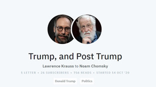 Letter.wiki exchange between Lawrence Krauss and Noam Chomsky