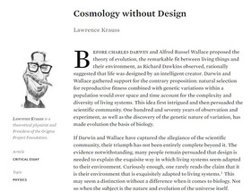 Cosmology without Design in Inference: International Review of Science