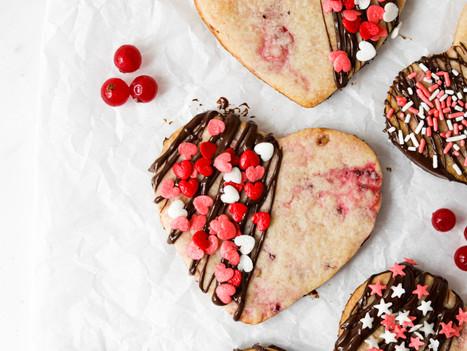 Bolachas Vegan com Groselhas e Chocolate - Dia dos Namorados