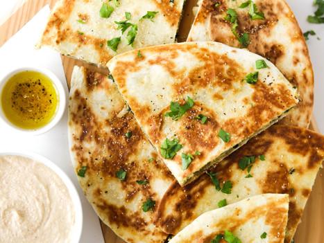 """Quesadillas Vegan de """"Ricotta"""" e Espinafres"""