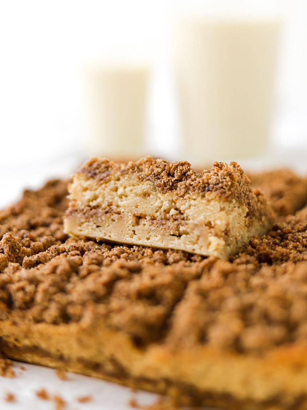 Streusel Cake Vegan de Café e Canela