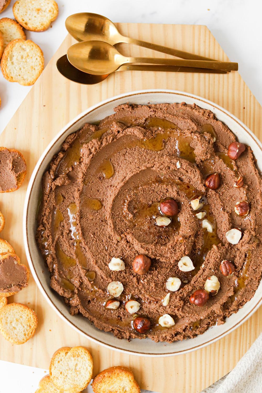 Hummus de Chocolate e Avelãs