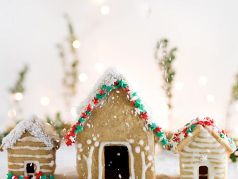 Vegan Gingerbread Houses - Casinhas de Bolachas de Gengibre Vegan