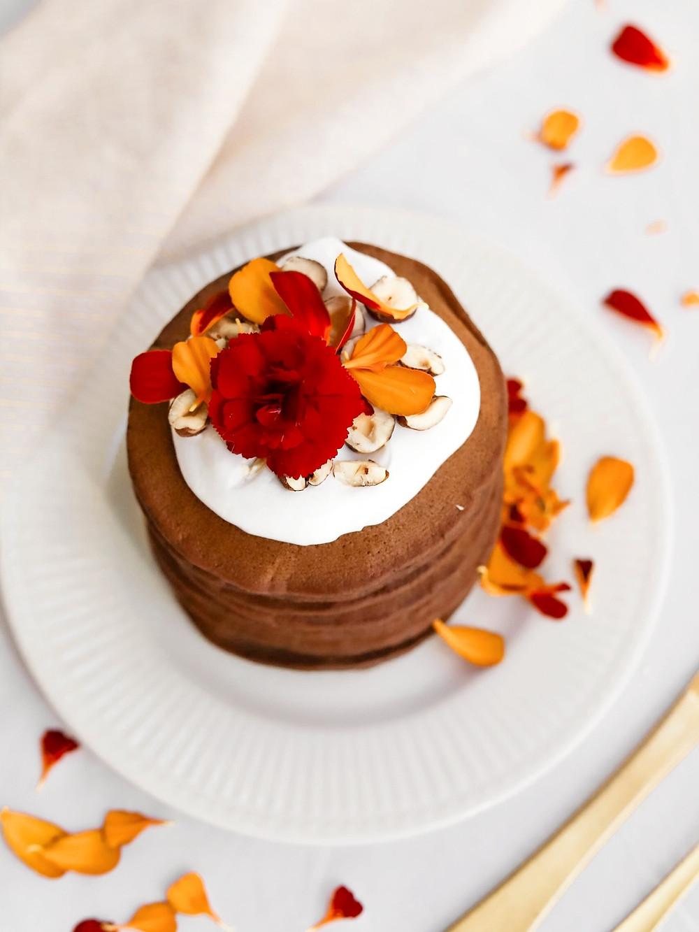 Panquecas Vegan de Chocolate e Banana