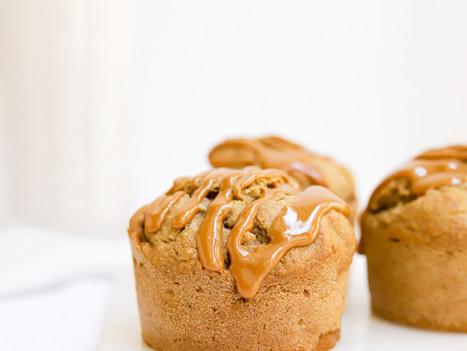 Muffins Vegan de Banana e Manteiga de Amendoim