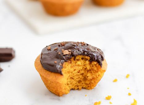 Cupcakes Vegan de Cenoura e Chocolate