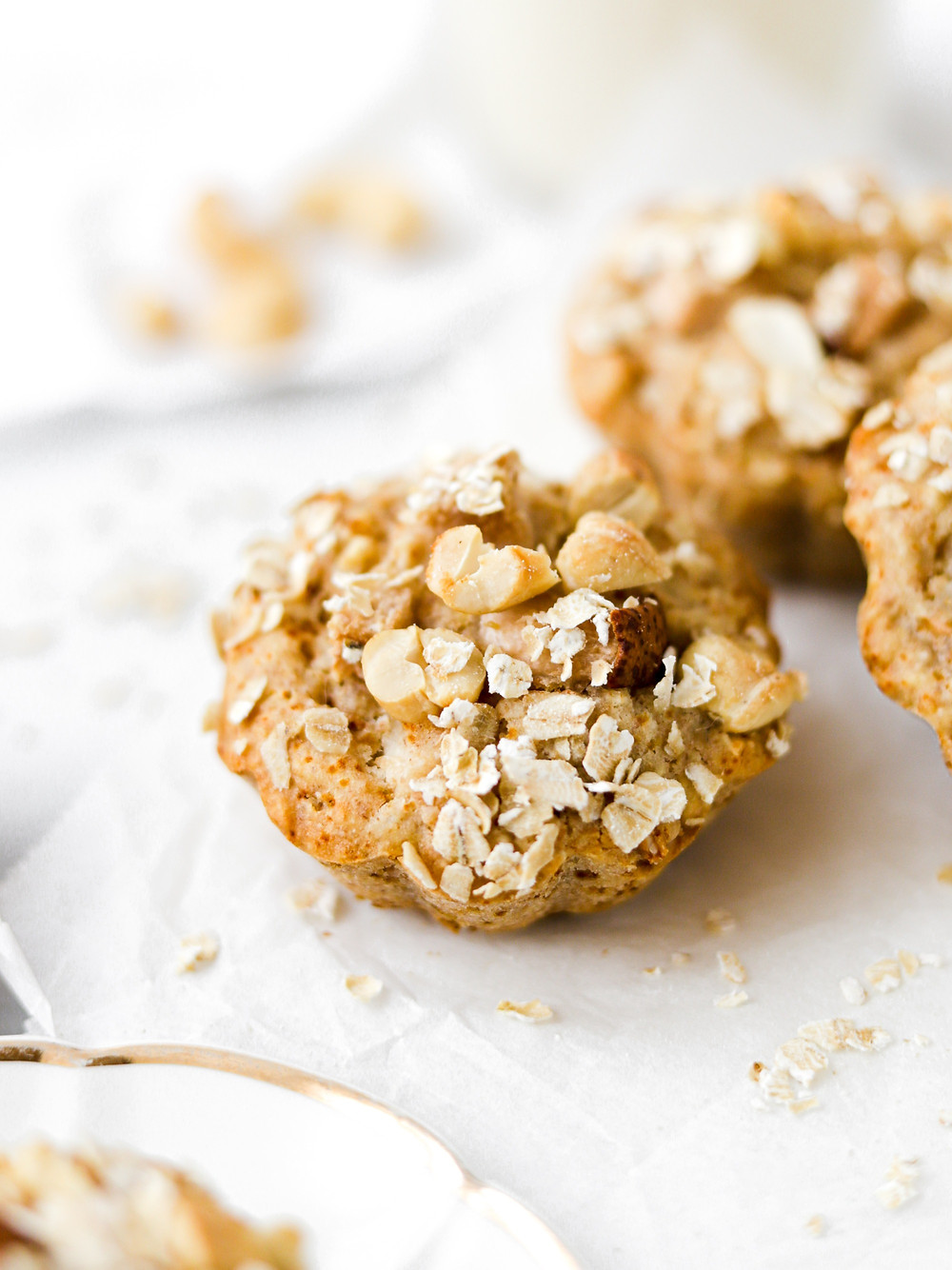 Breakfast Muffins Vegan de Pera, Aveia e Caju