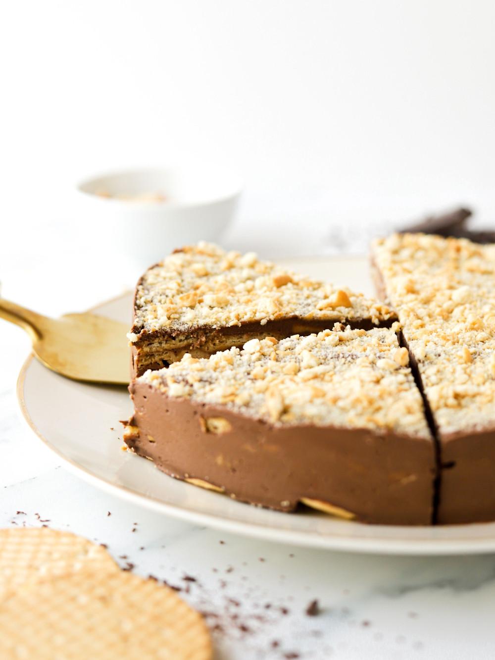 Bolo de Bolacha Vegan com Mousse de Chocolate