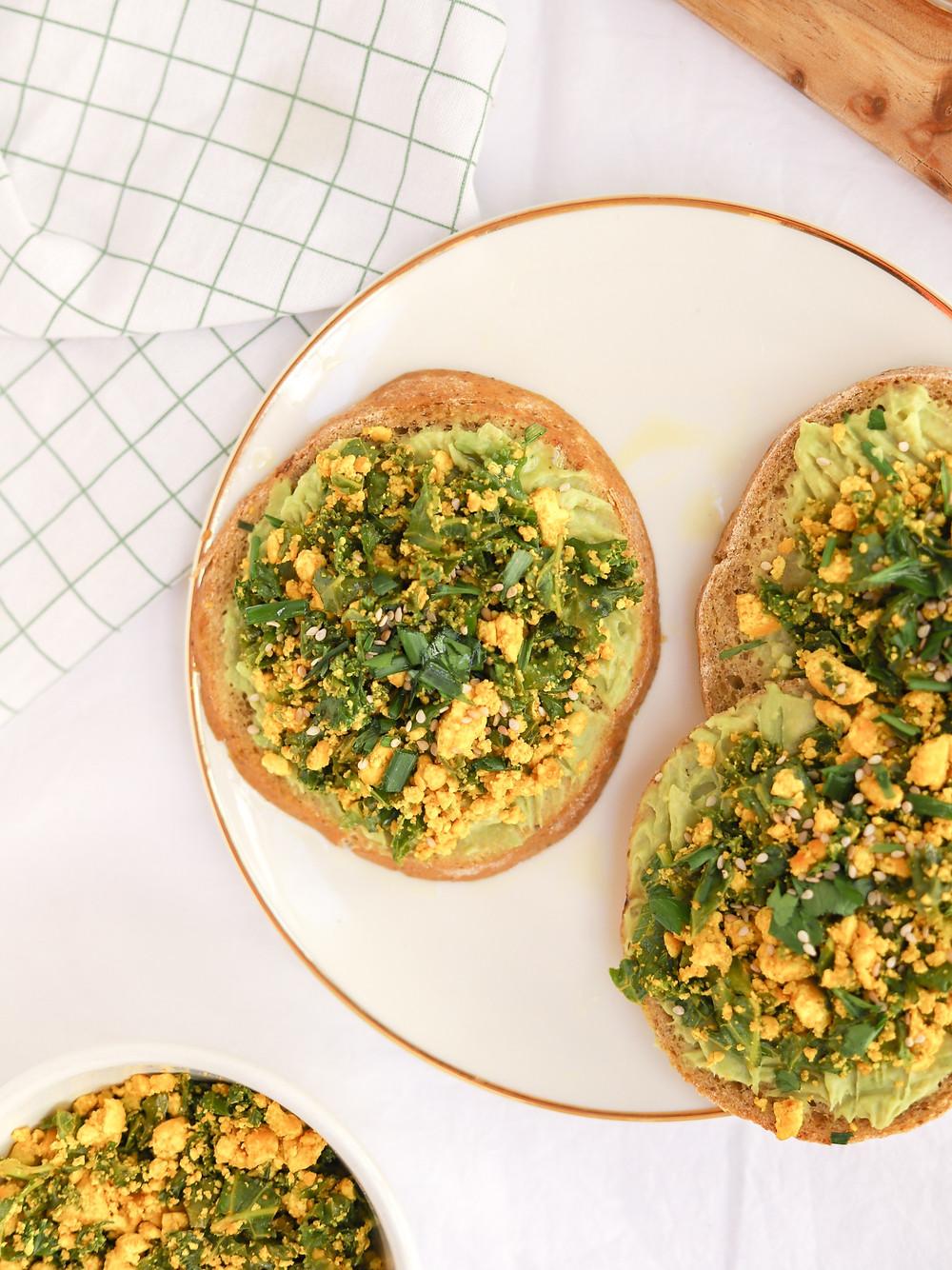 Tofu Mexido com Kale